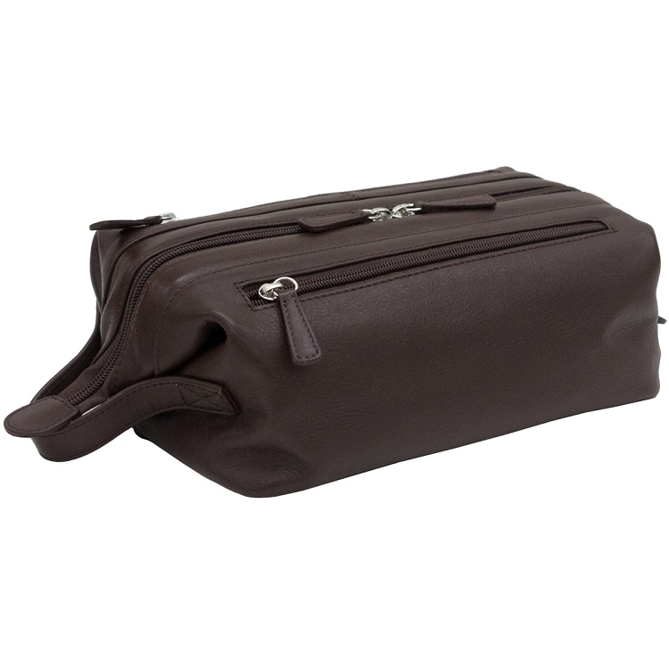 s leather toiletry bag