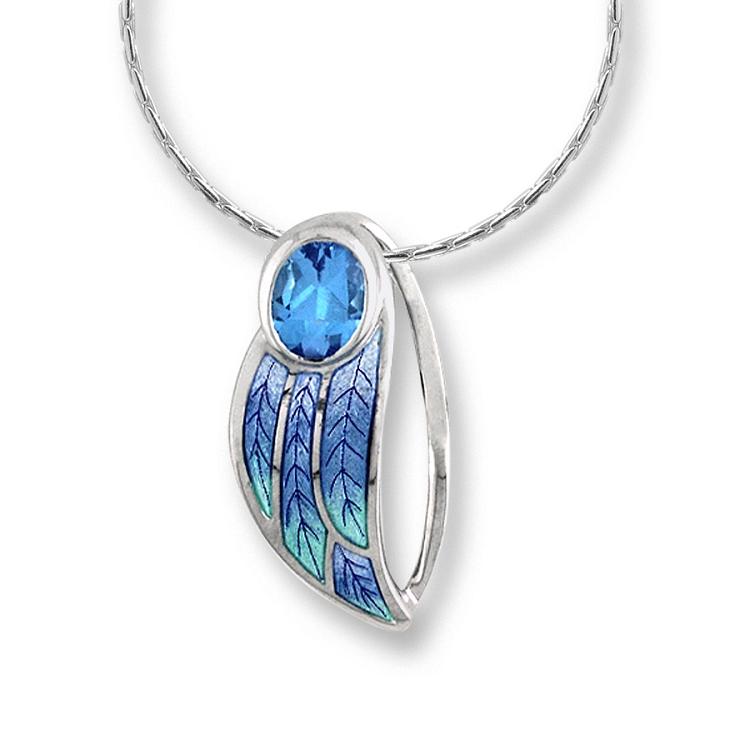 nicole barr quotcontoured leafquot necklace
