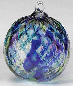 glass eye studio blue mosaic diamond classic ornament - Glass Eye Studio