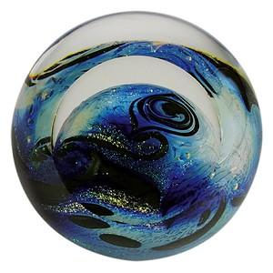 glass eye studio blue planet paperweight - Glass Eye Studio