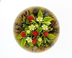 "CLINTON F SMITH ""STRAWBERRIES & BEES"" PAPERWEIGHT"