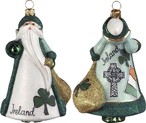 "GLITTERAZZI ""INTERNATIONAL SANTA-IRELAND"" ORNAMENT"