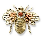 "NICOLE BARR 18KT GOLD ""BEE"" BROOCH"