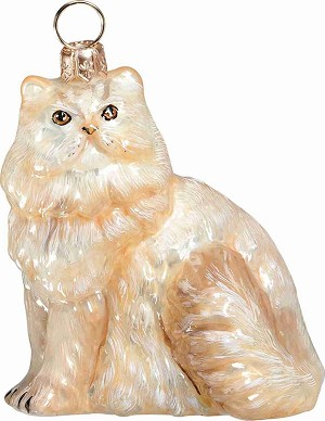 "GLITTERAZZI ""PERSIAN CAT"" ORNAMENT"