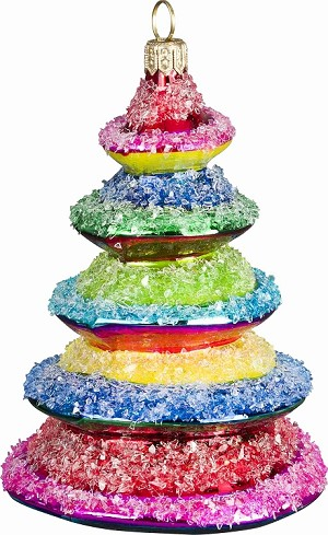 "GLITTERAZZI ""ROCKIN' CANDY TREE"" ORNAMENT"