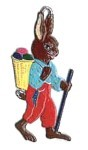 WILHELM SCHWEIZER BUNNY WITH BASKET ORNAMENT