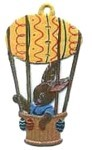 WILHELM SCHWEIZER BUNNY IN HOT EGG BALLOON ORNAMENT