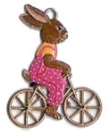 WILHELM SCHWEIZER BUNNY ON BIKE ORNAMENT