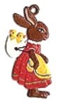 WILHELM SCHWEIZER BUNNY WITH CHICKS ORNAMENT
