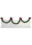 BYERS CHOICE DECORATED WHITE PICKET FENCE
