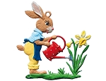 WILHELM SCHWEIZER BUNNY WITH WATERING CAN ORNAMENT