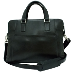 BLACK LEATHER LAPTOP BRIEFCASE