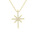 SHY CREATION PAVE DIAMOND STAR NECKLACE