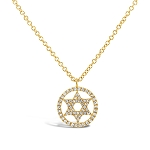 SHY CREATION PAVE STAR OF DAVID NECKLACE