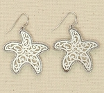 PERIWINKLE FILIGREE STARFISH EARRINGS