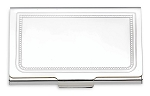 REED AND BARTON CHARLESTON SILVER PLATE CARD CASE