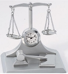 SANIS SCALES OF JUSTICE CLOCK