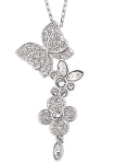 SWAROVSKI CRYSTAL EDEN PENDANT FLOWERS AND BUTTERFLIES