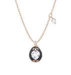 SWAROVSKI CRYSTAL PENGUIN PENDANT ROSE GOLD TONE PLATED