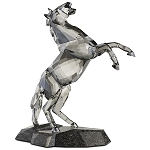 SWAROVSKI REARING STALLION ON GRANITE BASE