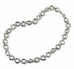 ZINA STERLING SILVER SMALL TOUCHSTONE NECKLACE