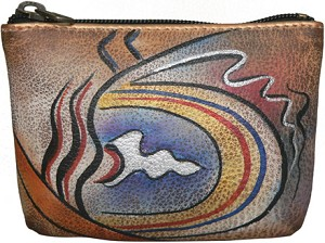 "Anuschka ""Abstract Classic"" Coin Pouch"