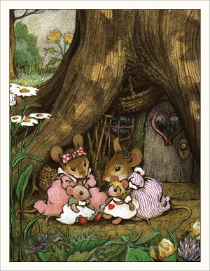 "Wee Forest Folk ""Donna's Dollies"" Note Card"
