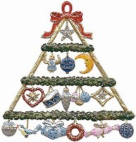 Painted Gift Pyramid Ornament