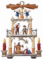 "WILHELM SCHWEIZER ""NATIVITY PYRAMID"" ORNAMENT"