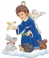 Angel with Animal Friends Ornament