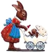 "WILHELM SCHWEIZER ""BUNNY WITH CARRIAGE"""