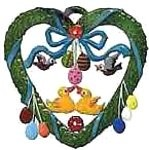 Ducks in Spring Heart Ornament
