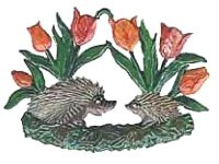 Hedgehog in Tulips Ornament