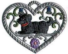 "WILHELM SCHWEIZER ""SMALL HEART WITH DOG"" ORNAMENT"