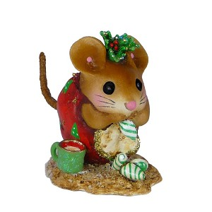"Wee Forest Folk ""Christmas Nibble Mouse"" Red"