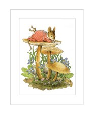 "Wee Forest Folk ""Mouse on Mushroom"" Card"