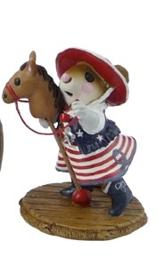 "Wee Forest Folk ""Clippity Clop"" Red White & Blue"