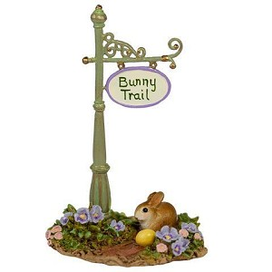 "WEE FOREST FOLK ""BUNNY TRAIL SIGN POST"""