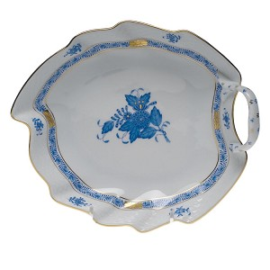 "Herend ""Chinese Bouquet"" Leaf Dish Blue"