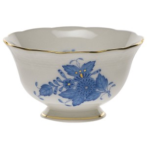 "Herend ""Chinese Bouquet"" Small Bowl Blue"