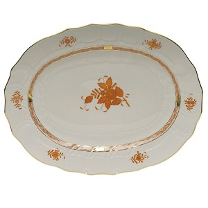 "Herend ""Chinese Bouquet"" Large Oval Platter"