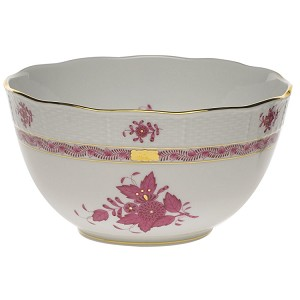 "Herend ""Chinese Bouquet"" Round Bowl Raspberry"