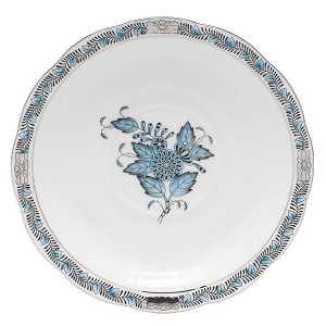 "Herend ""Chinese Bouquet"" Tea Saucer Turquoise"
