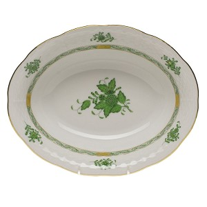 "Herend ""Chinese Bouquet"" Oval Vegetable Green"
