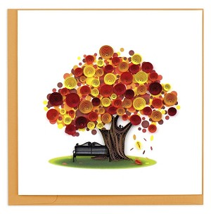 "QUILLING CARD ""AUTUMN TREE"""