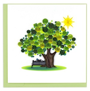 "QUILLING CARD ""SUMMER TREE"""