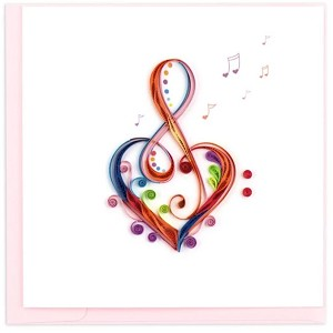 "QUILLING CARD ""LOVE SONG"""