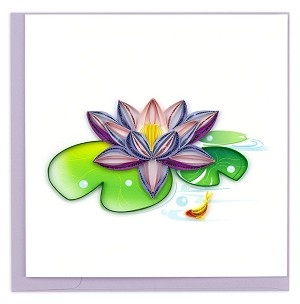 Quilling Card Water Lily