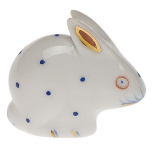 "Herend ""Polka Dot Rabbit"" Blue"
