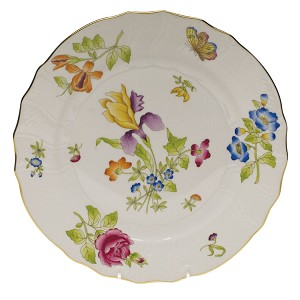 "Herend ""Antique Iris"" Dinner Plate Motif 1"